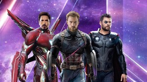 Iron Man Tony Stark Captain America Steve Rogers Thor Robert Downey Jr Chris Evans Chris Hemsworth M 2560x1440 Wallpaper