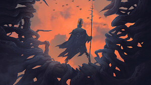 Digital Art Fantasy Art Alexey Egorov Orange Birds 1000x1421 Wallpaper