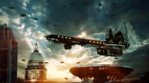Alien Invasion Spaceship 1920x1200 Wallpaper