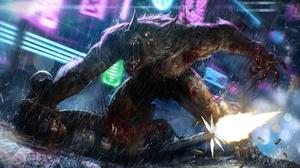 Artistic Last Man Standing Werewolf Fantasy Monster Battle Creature 1920x1080 Wallpaper