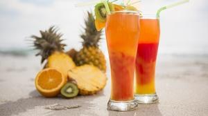 Glasses Fruit Drink 5760x3840 Wallpaper