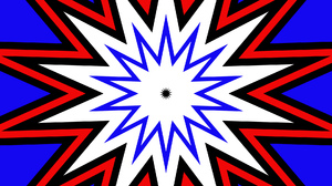 Abstract Artistic Blue Colors Digital Art Geometry Kaleidoscope Pattern Red Shapes Star White 1920x1080 Wallpaper