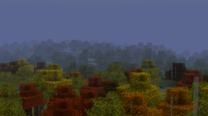 Minecraft Rain Trees Resource Pack 1920x1080 Wallpaper