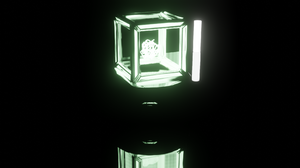 Science Fiction Cube 3D Graphics Abstract 3D Abstract Blender Light Green 1920x1080 Wallpaper
