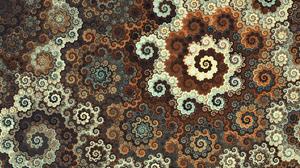Artistic Fractal Pattern Spiral 2560x1440 wallpaper