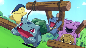 Bulbasaur Pokemon Cyndaquil Pokemon Granbull Pokemon Pikachu 039 S Pikaboo Sandshrew Pokemon Totodil 1916x1036 Wallpaper