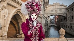 Bridge Of Sighs Carnival Costume Italy Venice 3072x2051 Wallpaper