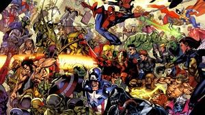 Black Widow Captain America Iron Man Marvel Comics Mister Fantastic Nick Fury Reed Richards Skrull M 2560x1986 Wallpaper