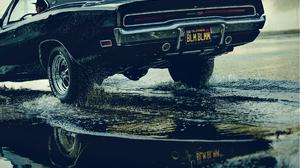 Black Car Reflection Water 3300x2244 wallpaper