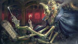 Steampunk Music Conductor Machine 3840x2160 Wallpaper