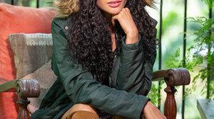 Women Brunette Curly Hair Long Hair Chair Iron Fence Coats Boots Plants Balcony Knee High Boots 3840x5760 Wallpaper