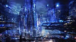 Cyberpunk Cityscape 1600x900 Wallpaper