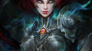 Women Face Artwork ArtStation Fantasy Art Fantasy Girl Darksiders 1000x1364 Wallpaper
