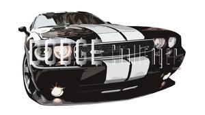 Artistic Black Car Car Digital Art Dodge Dodge Challenger Dodge Challenger Srt8 3000x1688 wallpaper