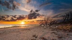 Outdoors Sun Sky Clouds Sand Nature Beach 3840x2160 Wallpaper