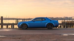 Dodge Challenger Srt Hellcat Muscle Car Coupe Blue Car Car 3000x2000 wallpaper