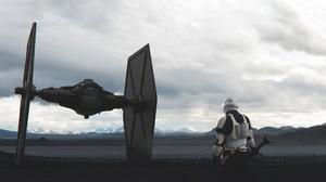 Stormtrooper Tie Fighter 1920x1080 Wallpaper