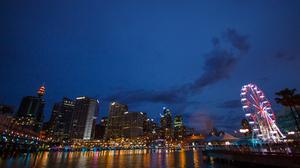 Australia Sydney Harbour Cityscape 2376x1584 wallpaper