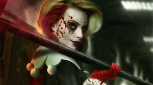 Blonde Dc Comics Green Eyes Harley Quinn 3840x2160 Wallpaper