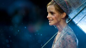 Emma Watson Umbrella Actress Women Celebrity British Women With Umbrella 1280x800 Wallpaper