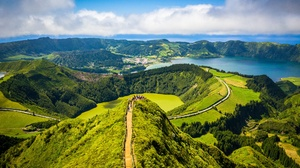 Azores Horizon Mountain Portugal 3992x2992 Wallpaper