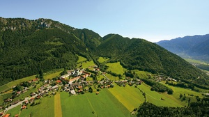 Aerial Alps Bavaria Germany Village 1920x1080 Wallpaper