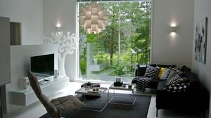Chair Cushion Furniture Living Room Room Television 3872x2592 Wallpaper