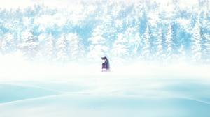 Fate Zero Anime Fate Series Kiritsugu Emiya Illyasviel Von Einzbern Winter Snow Trees 1920x1080 Wallpaper