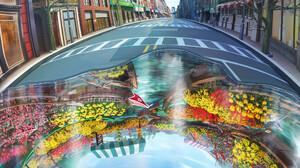 Keen Art ArtStation USA New York City Street Urban Artwork 1920x2432 Wallpaper