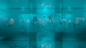 Flower Pattern Turquoise 1920x1080 wallpaper