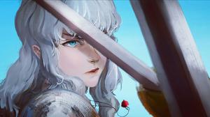 Berserk Sword Behelit Griffith Long Hair Blue Eyes White Hair 1920x1080 Wallpaper