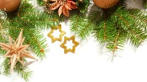 Christmas Decoration Golden Stars 1920x1440 wallpaper