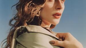 Chloe Grace Moretz Women Curly Hair Actress Celebrity Side View 1440x1797 Wallpaper