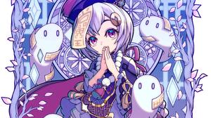 Genshin Impact Qiqi Genshin Impact Anime Games Anime Video Games Fan Art Artwork Digital Art Ghost G 2846x2365 Wallpaper