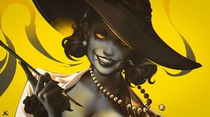 Lady Dimitrescu Resident Evil Resident Evil 8 Village Video Games Girls Video Game Characters Women  1920x1080 Wallpaper