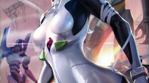 Sakimichan Realistic Ayanami Rei Neon Genesis Evangelion 1095x1600 Wallpaper