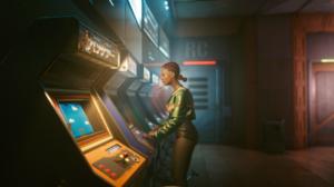 Cyberpunk Cyborg Arcade 1920x1080 wallpaper