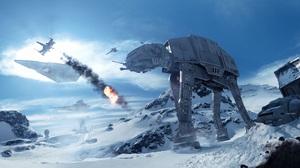 At At Walker Star Destroyer Star Wars Star Wars Battlefront 2015 X Wing 6400x3200 Wallpaper