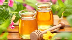 Flower Honey Still Life 4677x3118 wallpaper