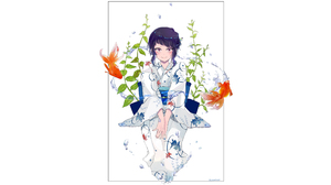Blush Boku No Hero Academia Flower Girl Kimono Ky Ka Jir My Hero Academia Pink Eyes Purple Hair Whit 2560x1600 Wallpaper