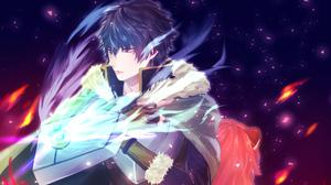 Blue Hair Naofumi Iwatani Purple Eyes Shield The Rising Of The Shield Hero 3840x2160 Wallpaper