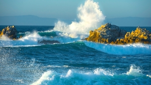 Artistic Blue Earth Ocean Rock Sea Wave 2048x1263 Wallpaper