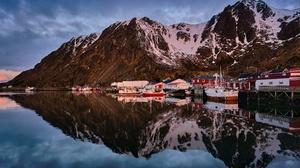 Lofoten Islands Mountain Norway 2700x1795 Wallpaper