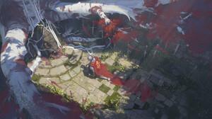 Vladimir Ishelin Digital Art Fantasy Art Knight Grave Roots Sword Armor 1920x1080 Wallpaper