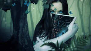Artistic Black Hair Book Butterfly Girl The Kingkiller Chronicle The Wise Man 039 S Fear Witch Woman 2650x2025 Wallpaper