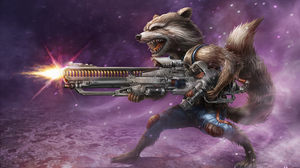 Guardians Of The Galaxy Marvel Comics Rocket Raccoon Weapon 3840x2716 Wallpaper