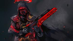 Cyberpunk Warrior Weapon 3710x2552 Wallpaper