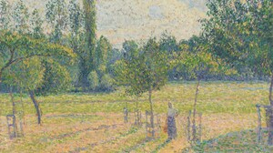 Painting Impressionism Pastoral Spring Green Field Camille Pissarro 1920x1080 Wallpaper