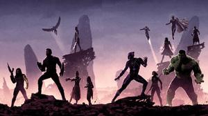 Black Panther Marvel Comics Black Widow Captain America Falcon Marvel Comics Hulk Scarlet Witch Visi 3956x2181 Wallpaper