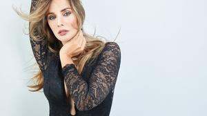 Alex Siracusano Model Women Blonde Blue Eyes Mouth Lips Lipstick Parted Lips Dress Black Dress Touch 3600x2400 Wallpaper